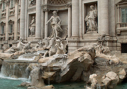 The Trevi Fountain. A Great Website because all roads lead to Rome (your website).
