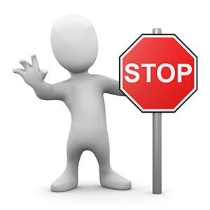 Animated Guy with stop sign
